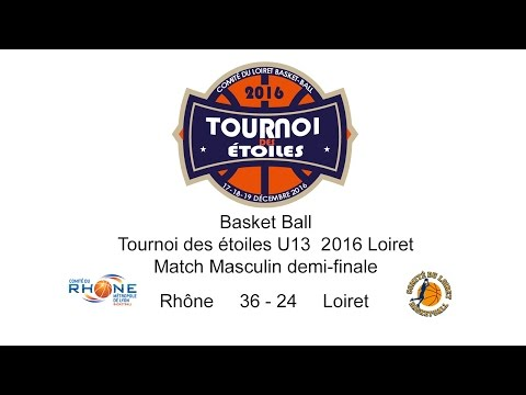 7-Basket TDE 2016 U13M Demi-Finale M25 Rhône 36 - 24 Loiret