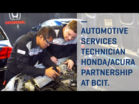 BCIT Automotive Service Technician Program Partners With Honda/Acura