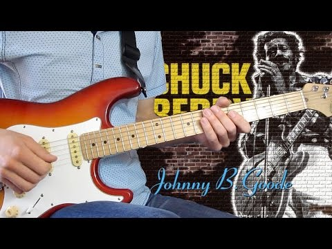 Chuck Berry Johnny B Goode урок на гитаре + табы