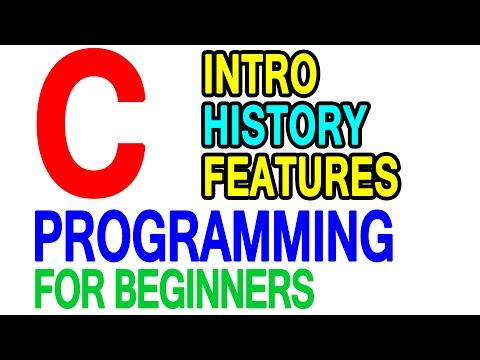 01 | Introduction to C Programming Language, History | Beginners Video Tutorial