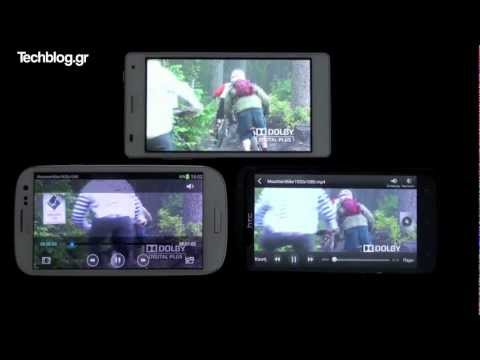 1080p - Super AMOLED (Galaxy S III) Vs. S-LCD 2 (One X) Vs. LCD IPS (Optimus 4X HD)