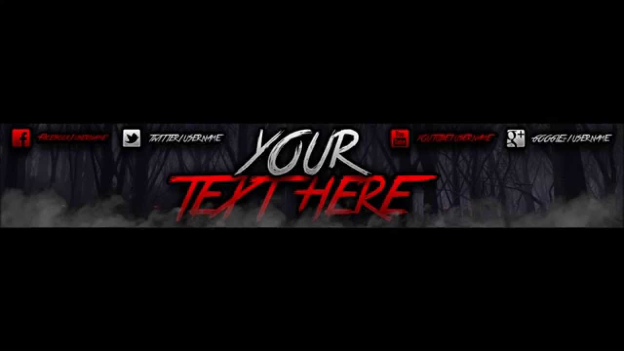 GIVEAWAY   Spooky Youtube Banner Template   YouTube Spooky Youtube Banner Template