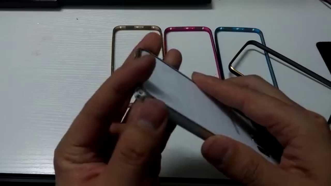 Samsung Galaxy S6 Aluminum Bumper Metal Frame Case With Gold Aluminium Untuk A3 2015 Sideline