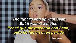 Thank you next .Ariana grande (letra en inglés y español)