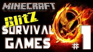 "Minecraft ""Blitz Survival Games"" #1 - Wolf-tamer OP!"