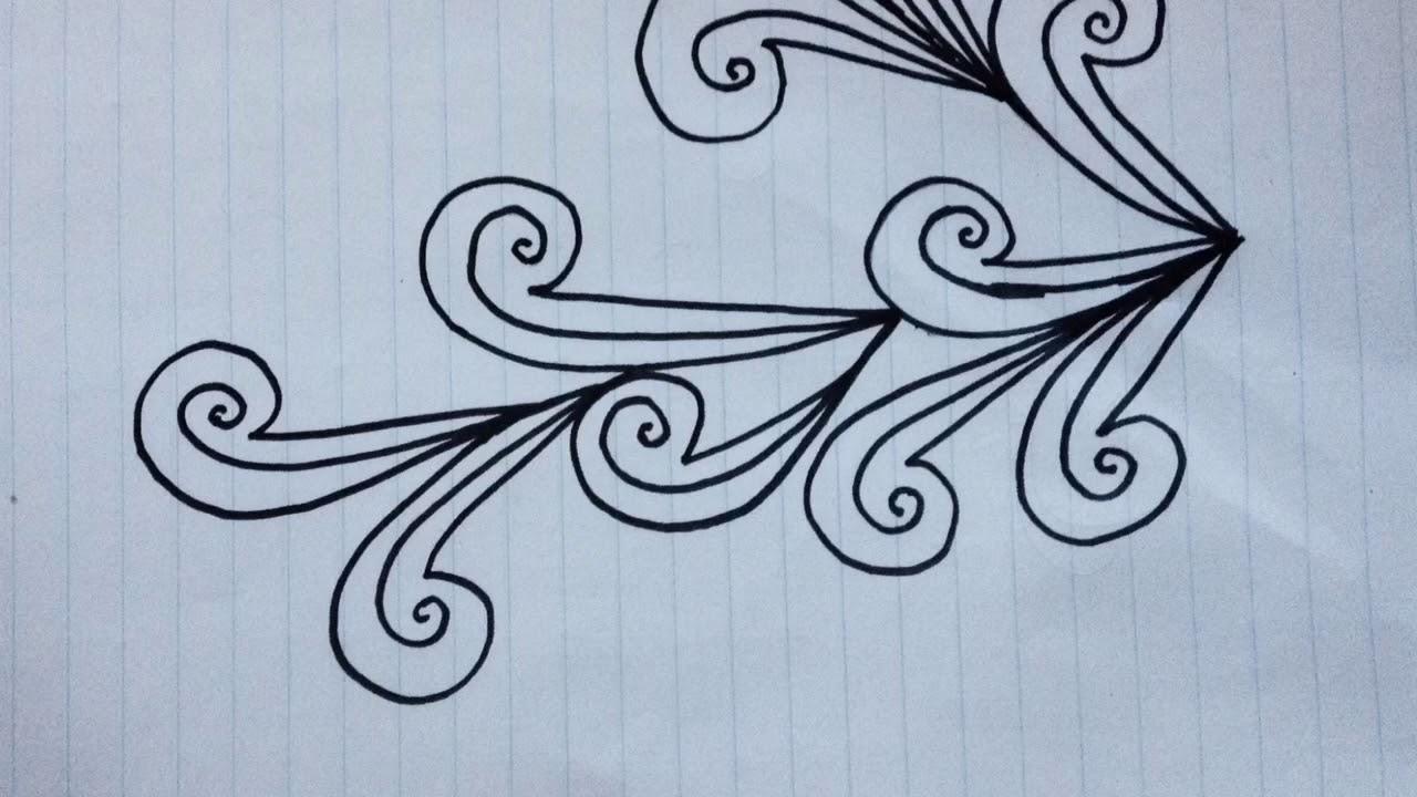 رسم الزخارف رسم زخرفة بسيطة بقلم الرصاص