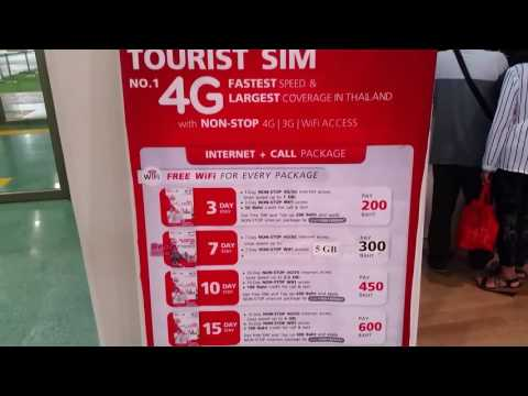 Phuket, Thailand TrueMove H Tourist Sim Card Prices 4G Inter