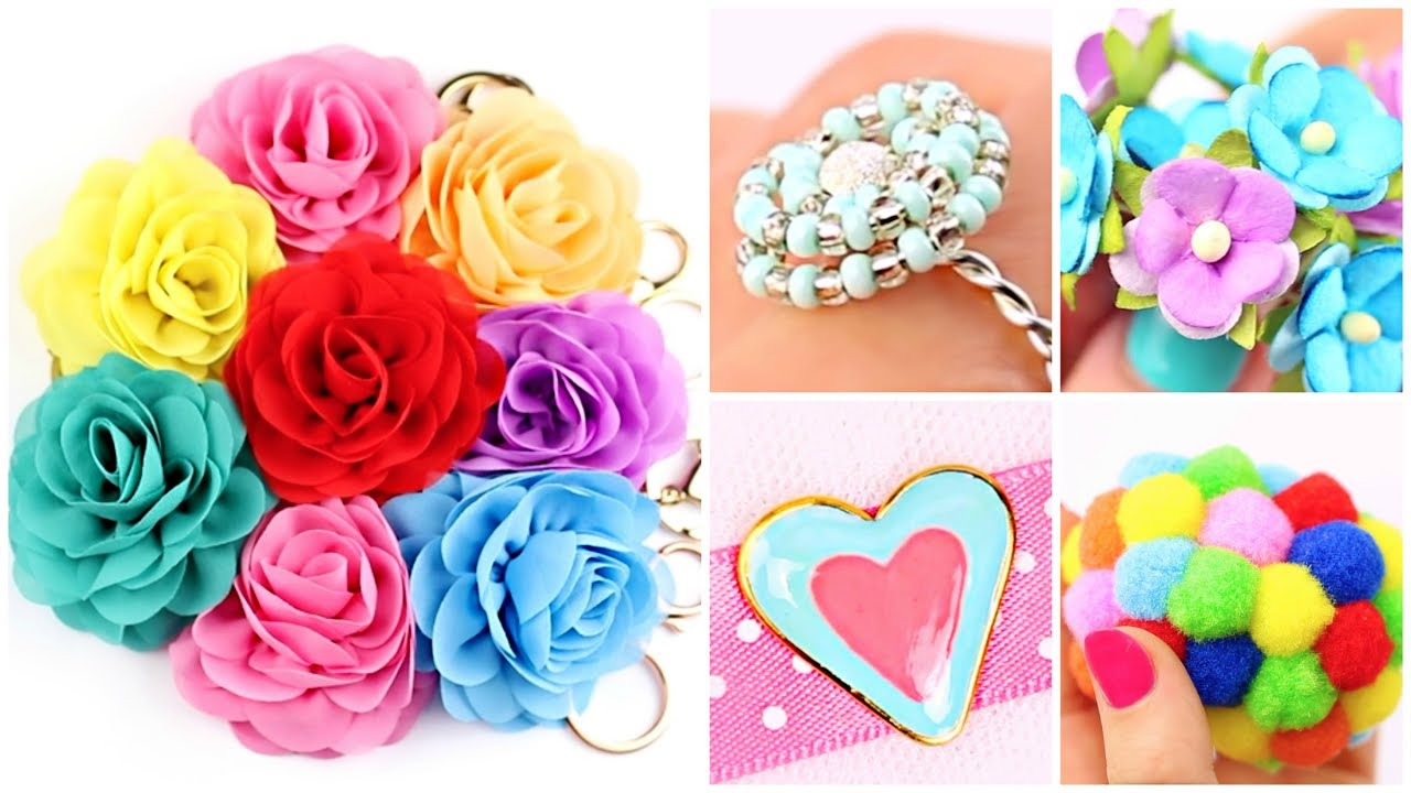 23 Easy Crafts Ideas at Home DIY Easy Rings Hot Glue