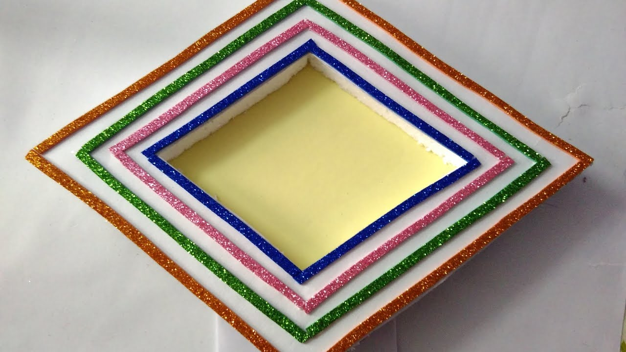 How To Make Hand Made Photo Frame Simple And Beautiful Photo