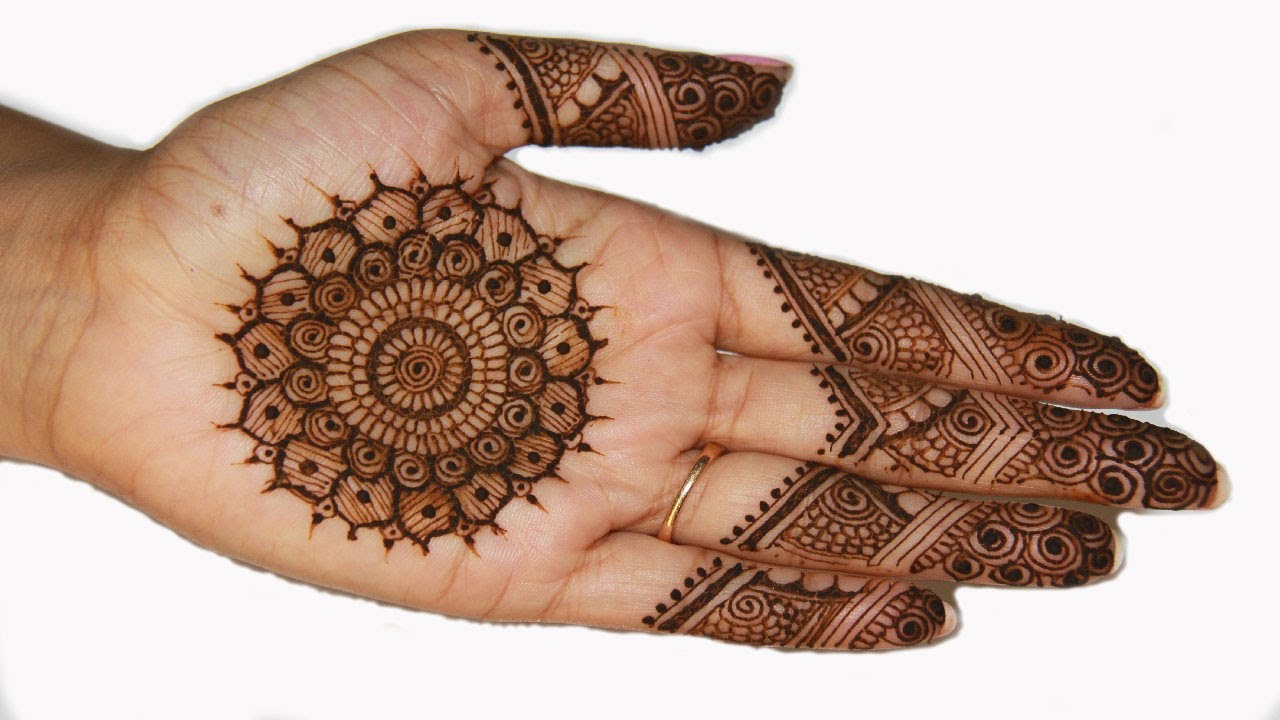 Traditional Indian Pakistani Mehndi Henna Design Youtube