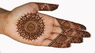 Traditional Indian Pakistani Mehndi Henna Design
