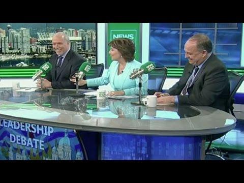 "NDP LDR John Horgan To BC PRM Christy Clark ""Don't touch me again""   #CalmDownJohn"