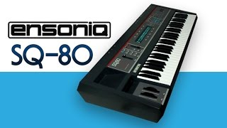 ENSONIQ SQ-80 Synthesizer 1987   NEW PATCHES   HD DEMO