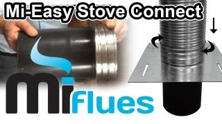 Mi-Easy Stove Connect Screw Fix Set Up - Connect your stove to your flue in minutes!