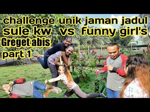 Challenge/ngakak Sule Kw Vs Funny Girl's Main Game Jaman Jadul |sule Kw |prikitaw