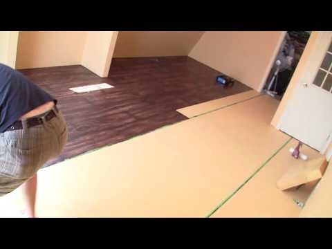 "Time Lapse painting ""Faux wood floors"""