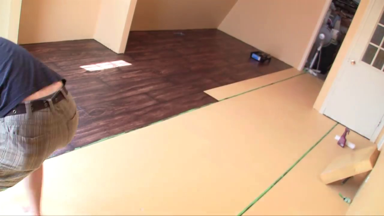 Time Lapse Painting Faux Wood Floors