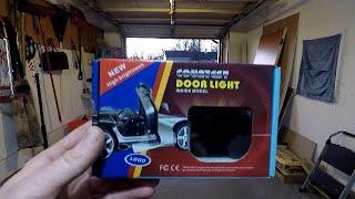 How to install door projector courtesy lights