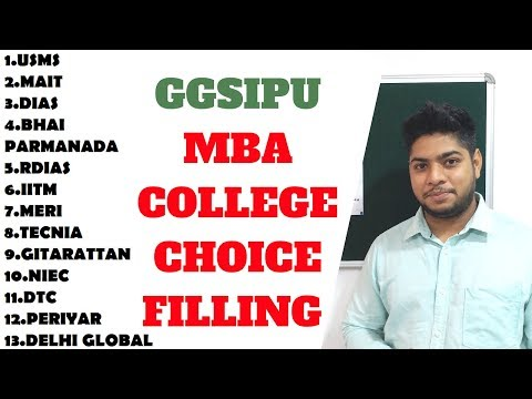 MBA ONLINE CHOICE FILLING PROCESS IN GGSIPU COUNSELLING|TOP COLLEGES|HOW TO GET TOP COLLEGE IN GGSIP