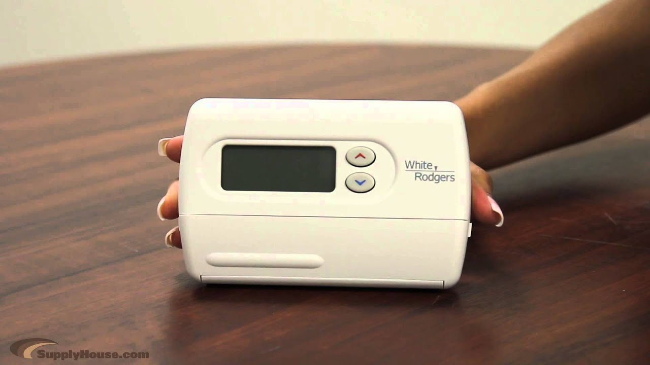 The White Rodgers 1f80 361 Thermostat Youtube