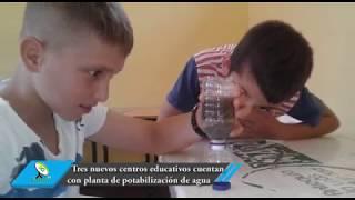 Tres nuevos centros educativos cuentan con planta de potabilización de agua