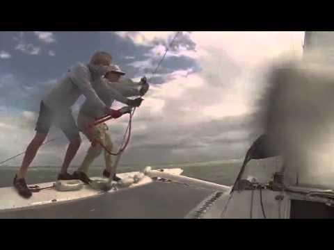 Corsair f24 trimaran in 25 to 30 knots wind