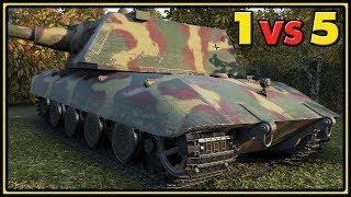 E-100 - 10 Kills - 1 vs 5 - World of Tanks Gameplay