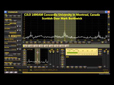 MW Dxing CJLO 1690AM Montreal Canada Received In Scotland with Perseus SDR and Super KAZ Array