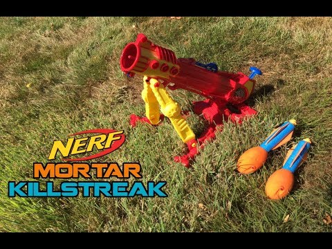 THE NERF MORTAR || Air Zone Rocket Storm Overview