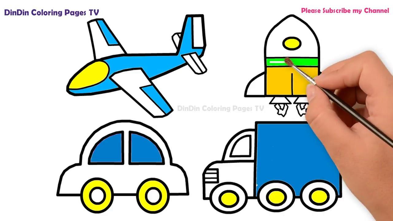 Rakete Flugzeuge Pkw Und Auto Malvorlagen Für Kinder Auto Für Kleinkinder