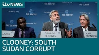 George Clooney's monitoring firm warns of South Sudan's 'corrupt' government | ITV News