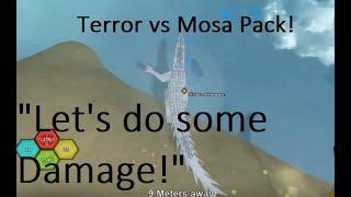 "TERROR vs 3 MOSA Pack-""Let's do some Damage!"" -Dinosaur Simulator, Roblox"
