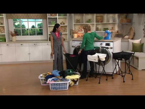 Lifter Hamper Auto Lift Spring Loaded Hamper with Wheels on QVC