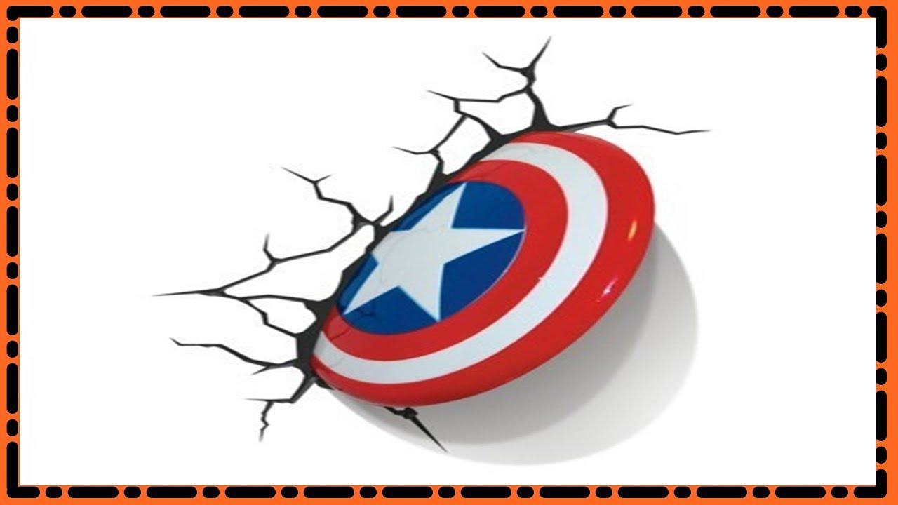 Desenhando O Escudo Do Capitao America Em 3d Desenha Facil Youtube