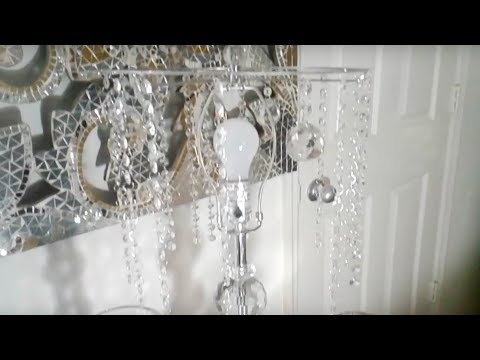 Revamp from Boring to Bling chandelier lamp shade!! 25 Days of Glamorous! 11th Day of GLAMOROUS!