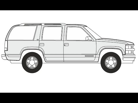How To Draw A Chevrolet Tahoe Как