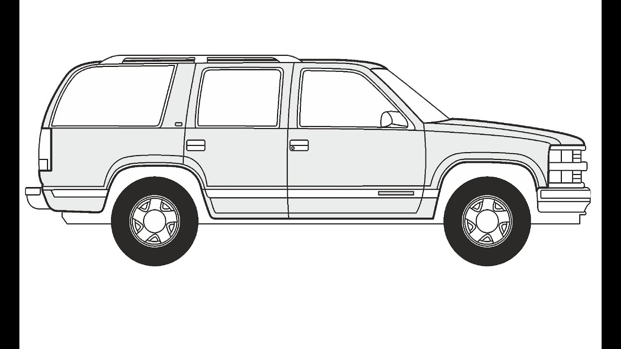 How to Draw a Chevrolet Tahoe / Как нарисовать Chevrolet ...