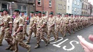 45 Commando Royal Marines march through Arbroath on Return from Afghanistan