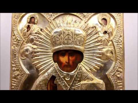 Купить дорогие иконы? Икона старинная Николай Чудотворец. DR0350