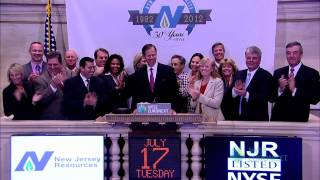 New Jersey Resources Corporation Celebrates 30 Years of Trading