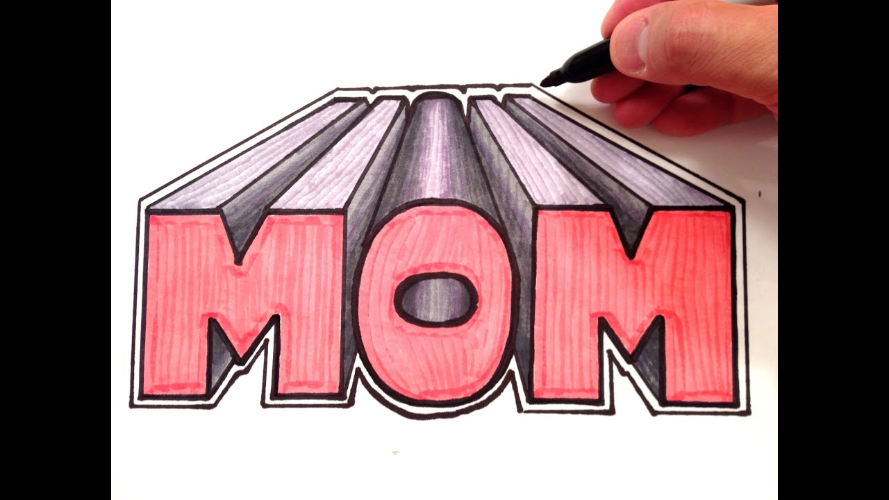 How To Draw MOM In 3D