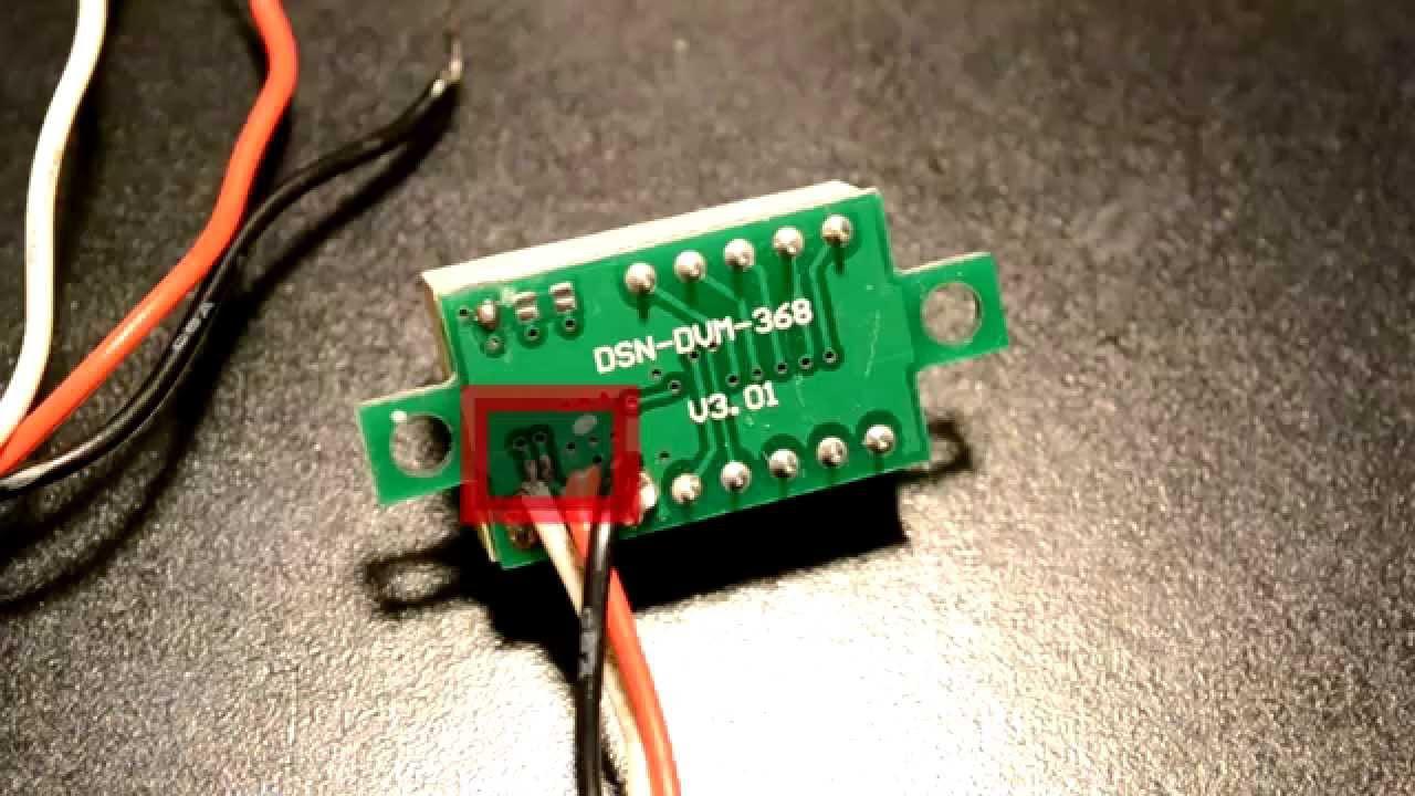 Ebay voltmeter mod