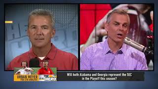 Urban Meyer   Alabama and Georgia are Top 2 teams in SEC, talks Jim Harbaugh & more   CFB   THE HERD