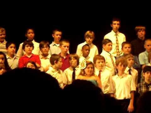 Crispell sixth grade chorus singing I