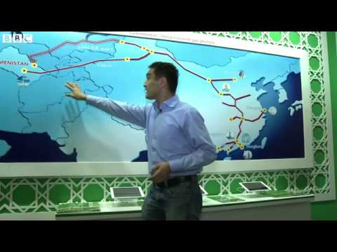 BBC News   Rare look inside Turkmenistan oil and gas confere
