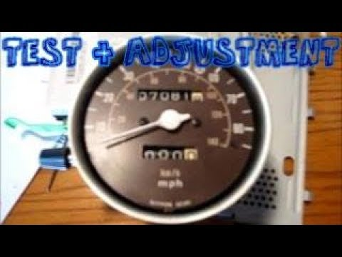 Motorcycle Speedometer Accuracy Test & Adjustment