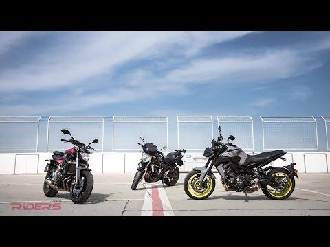 2017 Yamaha MT-09 (FZ-09) vs. MT-07 (FZ-07) vs. old FZ-06 - Track Review