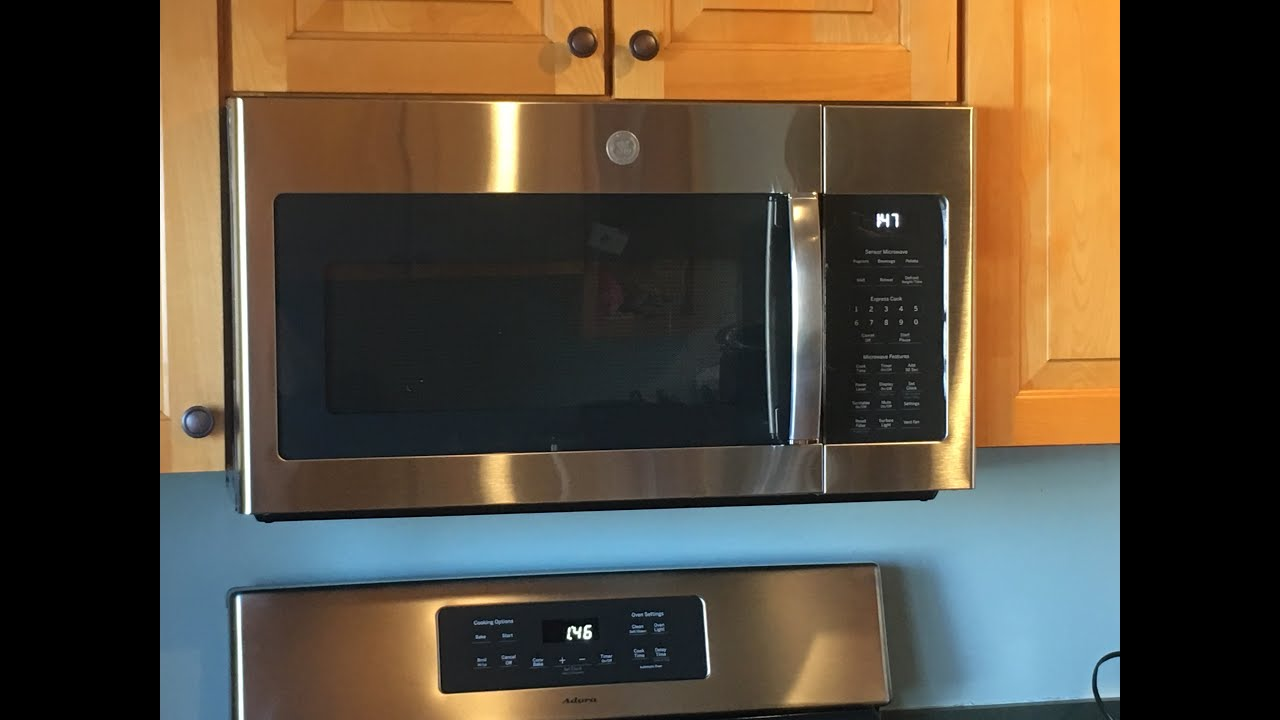 complete over the range microwave installation including removing the old microwave