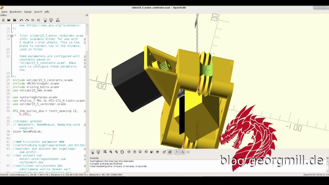 Modular slider designed in Openscad - YouTube
