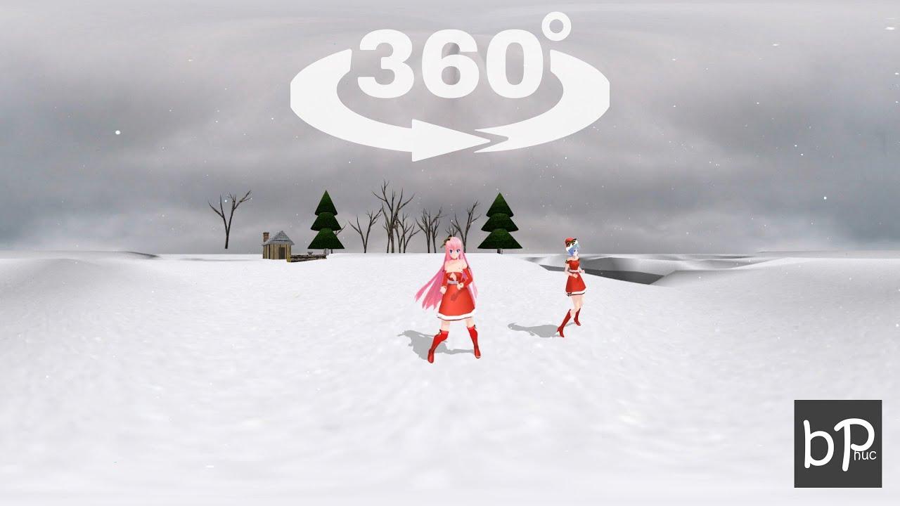 VR 360 Video - Merry Christmas - Jingle bell - 360 Degrees Video VR [MMD]